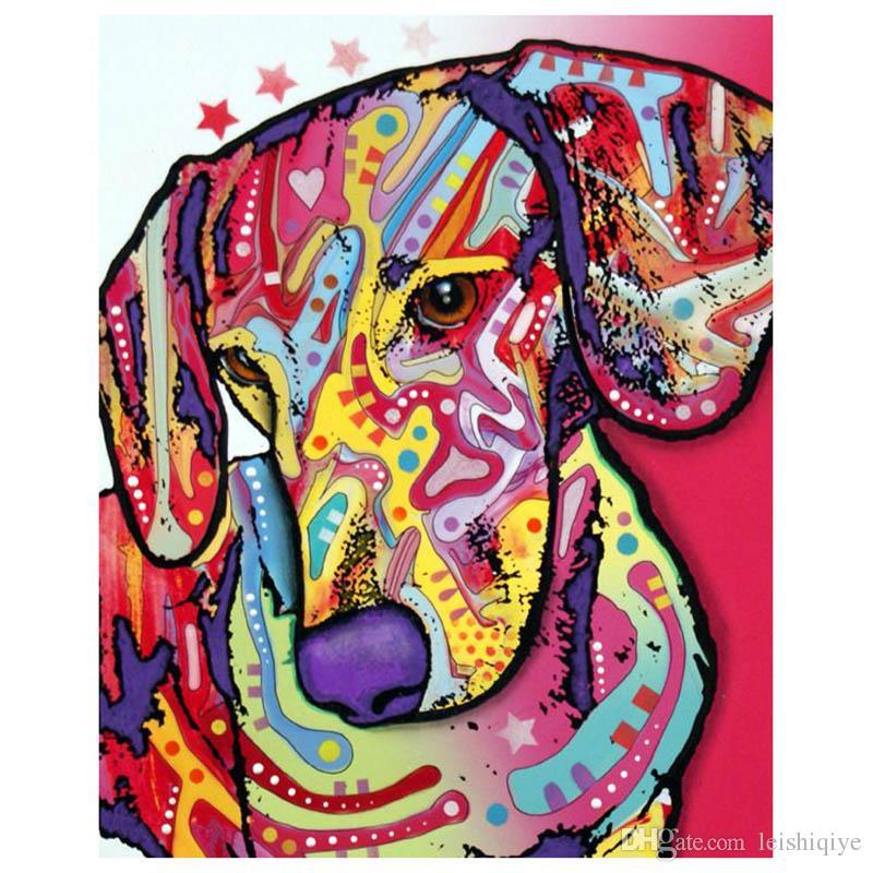 Diy full Diamond Painting -Color dog- Diamond Painting handwork Full Rhinestones Diamond Painting Embroidery Decor Crafts