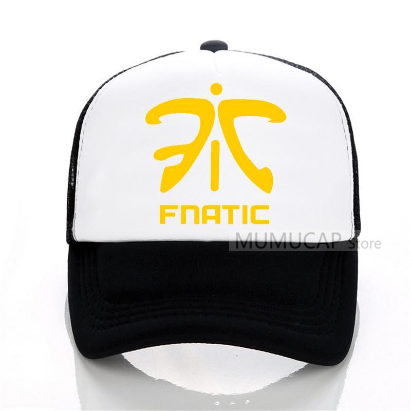 Fnatic LOL campeão cap FN jogo equipe Fnatic Jersey boné de beisebol verão  malha chapéu casual jogo de atletismo das mulheres dos homens trucker cap bb836a77bac