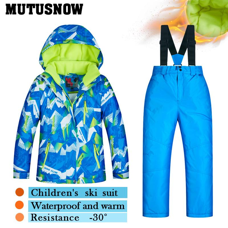 6a0586f81 2019 2018 Ski Suit Children S Brands High Quality Skiwear Windproof ...