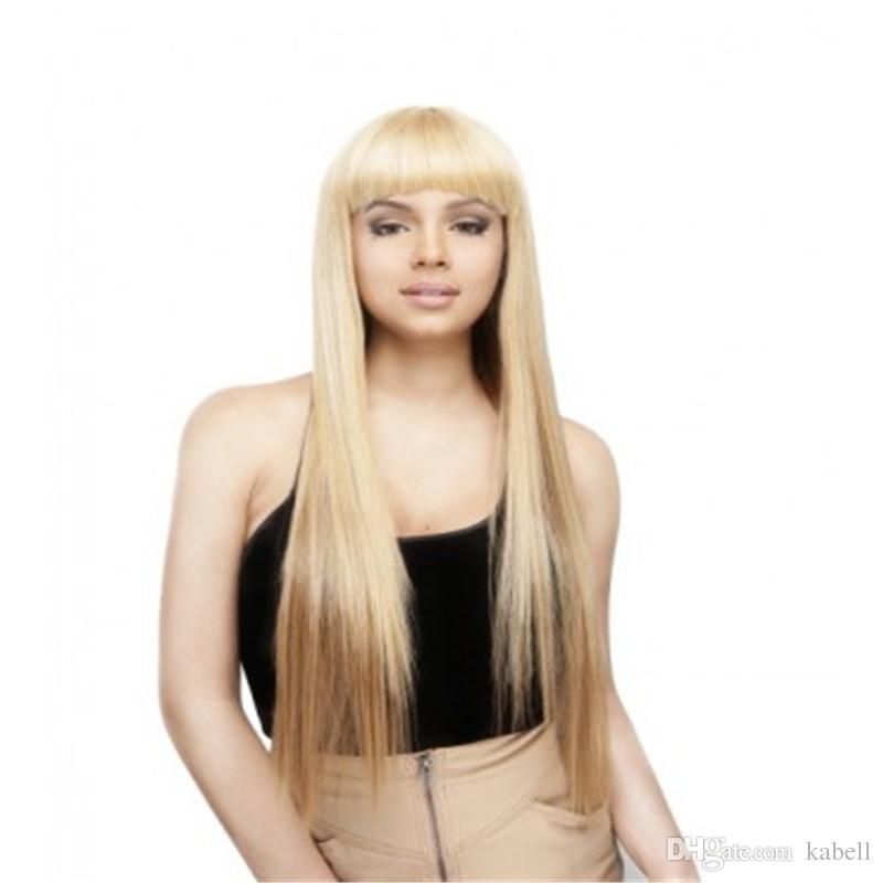 Королева волос #613 полный шнурок человеческих волос парик бразильский Реми шелковистые прямые волосы 150% плотность чистая блондинка парик 100% ручной связали прозрачные чистые парики