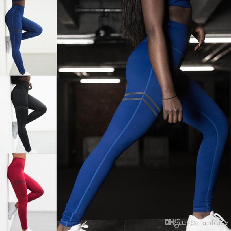 Compre 2018 Nova Chegada Mulheres Moda Cor Sólida Estiramento Calças Justas  Leggings Ginásio Leggings Treino Leggings Calças De Fitness Leggings S Xl  De ... 71da2e3ebd6d6