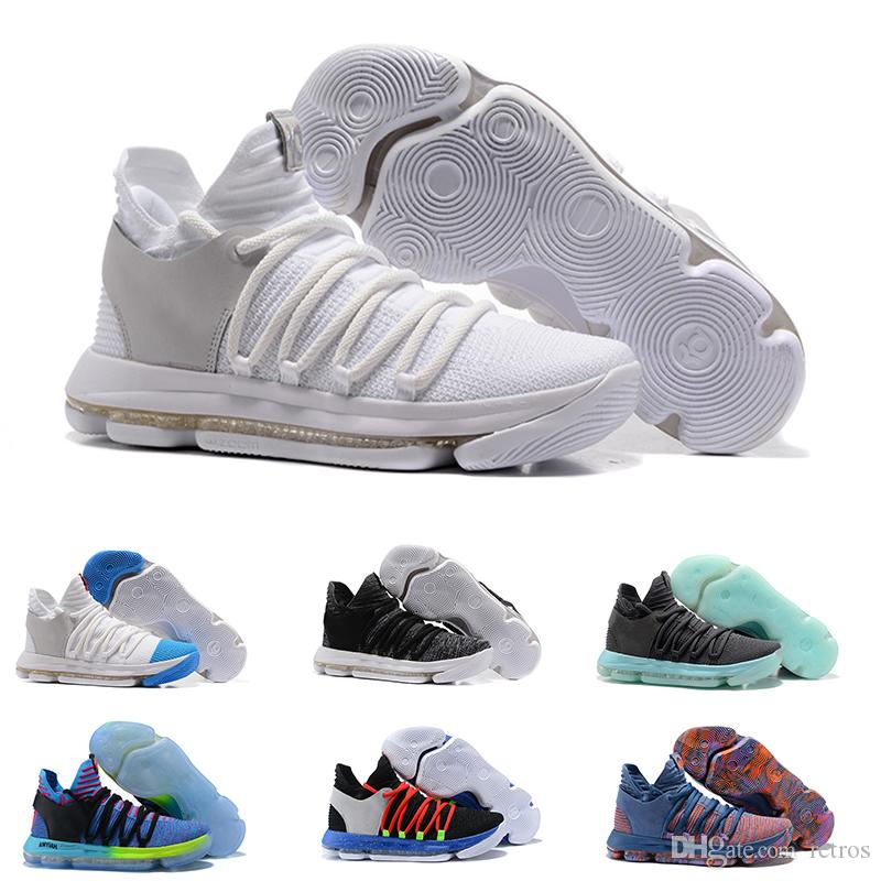 6c42a566e3d5 2018 Wholesale Kevin KD X 10 Men Basketball Shoes Warriors Home Wolf Durant  10s Running Training Sports Shoes Casual Sneakers Eur 40 46 Sport Shoes  Mens ...