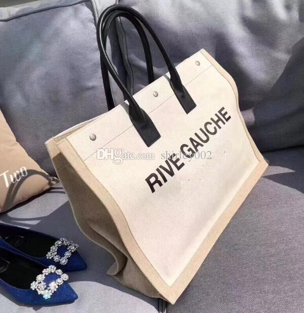 Fashion Big Capacity Canvas Tote Bag. Rive Gauche Brand Handbag For Women.  Very Fashion   Famous Designe Totes. Laptop Bags For Women Duffel Bags From  ... d88b42509b