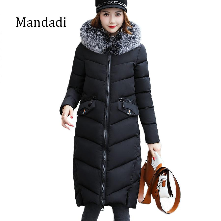 finest selection 89772 dc2f4 2017 Cappotto invernale donna Parka lungo cotone imbottito giacca outwear  cotone imbottito lunghe giacche invernali signore cappotti