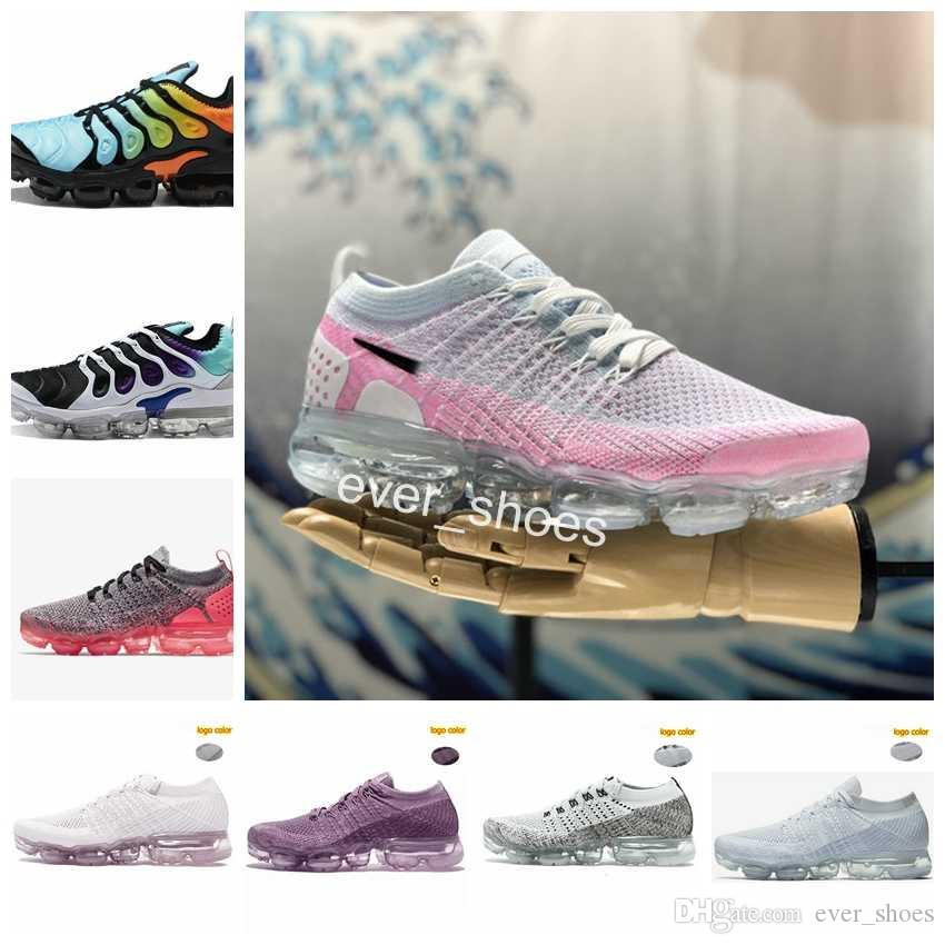 eeb9291bc2b0 2018 Air Chaussures Maxes 2.0 Plus TN Women Running Shoes Fashion Girls  Sports Vapor 2 White Pink Designer Brand Womens Trainers Sneakers Spikes  Shoes Best ...
