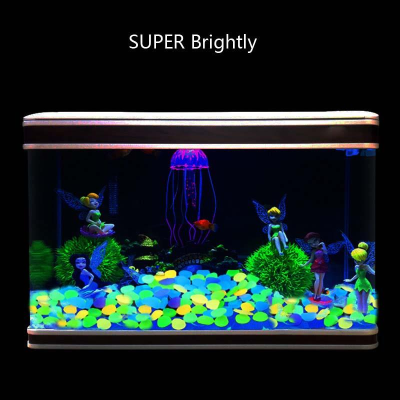 Home Garden Pietre Luminose Park Decor Road Pebble Glow in Dark Serbatoio per pesci all'aperto Aquarium Rocce H1014W