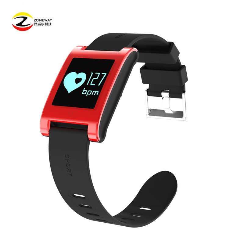 582a12a2cb52 Pulsera inteligente a prueba de agua DM68 Pulsera Fitness Tracker Presión  arterial Monitor de frecuencia cardíaca Llamadas Mensajes Reloj con 2 ...