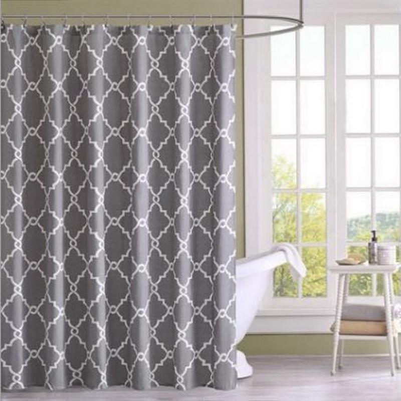 2019 DIDIHOU European Modern Simple Geometric Gray Print Waterproof Polyester Shower Curtain For Bathroom Home Decoration From Yigu001