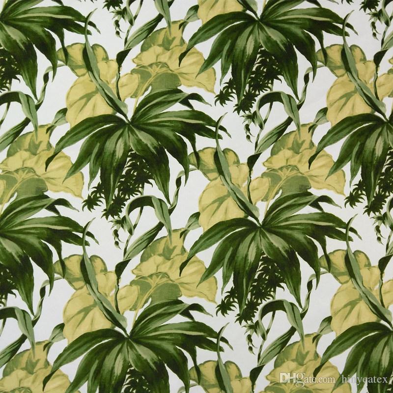 2019 Tropical Big Yellow Leaf Digital Print Velvet Chair Upholstery