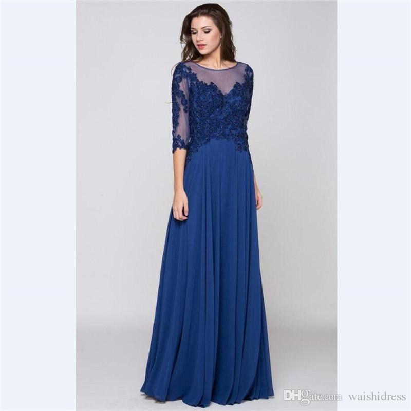 Abendkleider blau chiffon