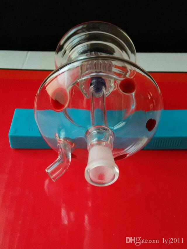 2018 Nuova bottiglia di acqua a forma di fungo Bong di vetro all'ingrosso Bruciatore a olio Tubi di acqua in vetro Rigs olio Rigs fumatori