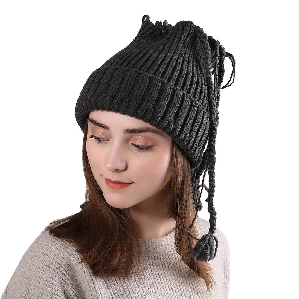 a7b01ee6304 2019 Feitong Fashion Men S Women S Caps Knit Wool Handmade Knitting ...