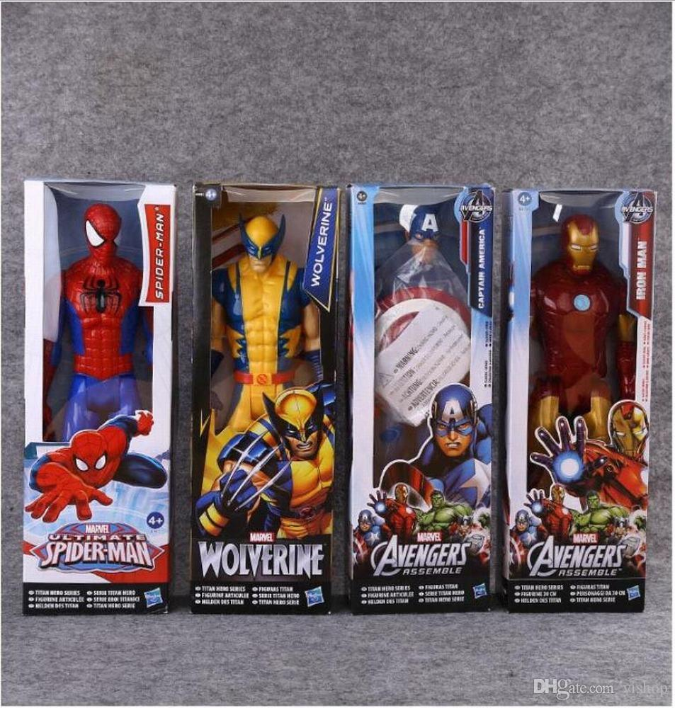 12inch The Avengers Marvel Legends Super Heros Titan Hero Series Wolverine Iron man Spiderman Captain America Ultron Action Figure Gift Toys