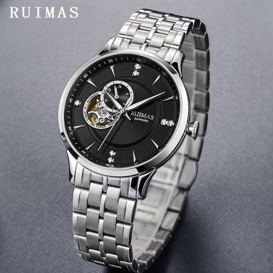 b7a589a710e Compre Homens De Negócios De Luxo Relógio Mecânico Top Fashion Casual De  Alta Qualidade Analógico Relógios De Pulso RUIMAS Relógio Montre Homme Com  NH39 De ...