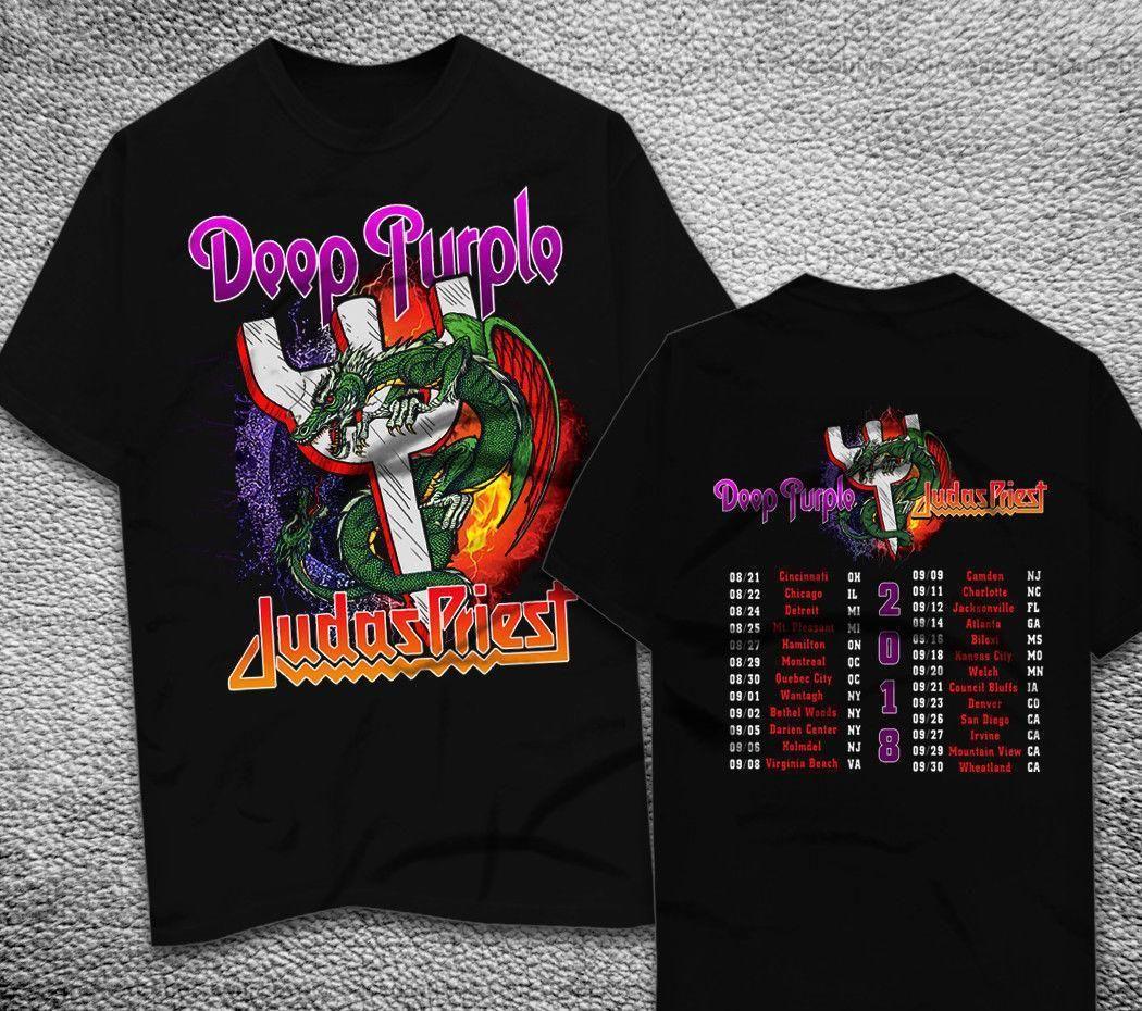 Judas Priest Deep Purple Tour 2018 T Shirt Print T Shirts Man