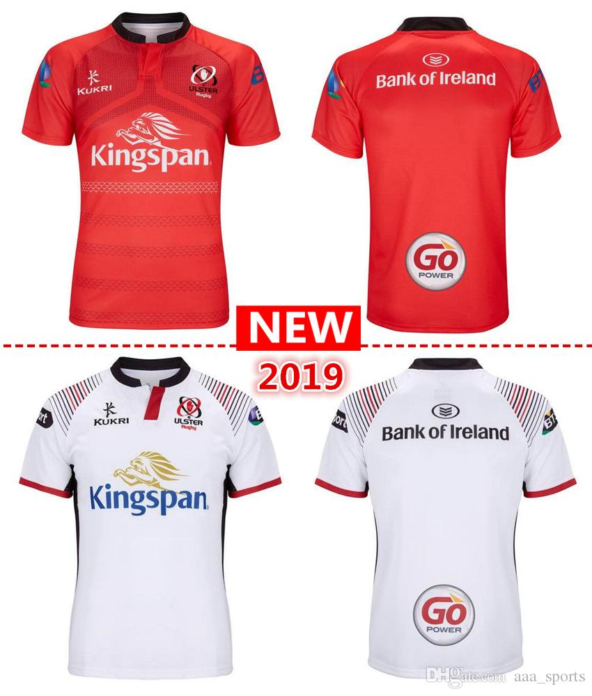 free shipping 2019 new ulster home and away Rugby Jerseys kukri shirt 18 19 ULSTER national team League jersey Leisure sports shirts S-3XL