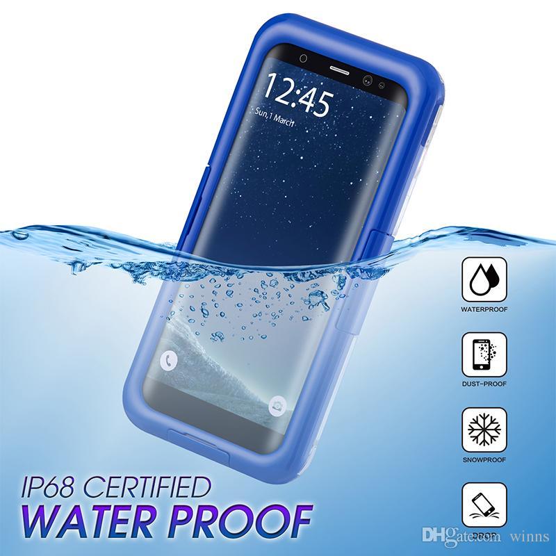 IP68 Certified Underwater Full Sealed Cover Snowproof Shockproof Waterproof Case For Samsung Galaxy S8 S8plus Note8 Retail Packaing