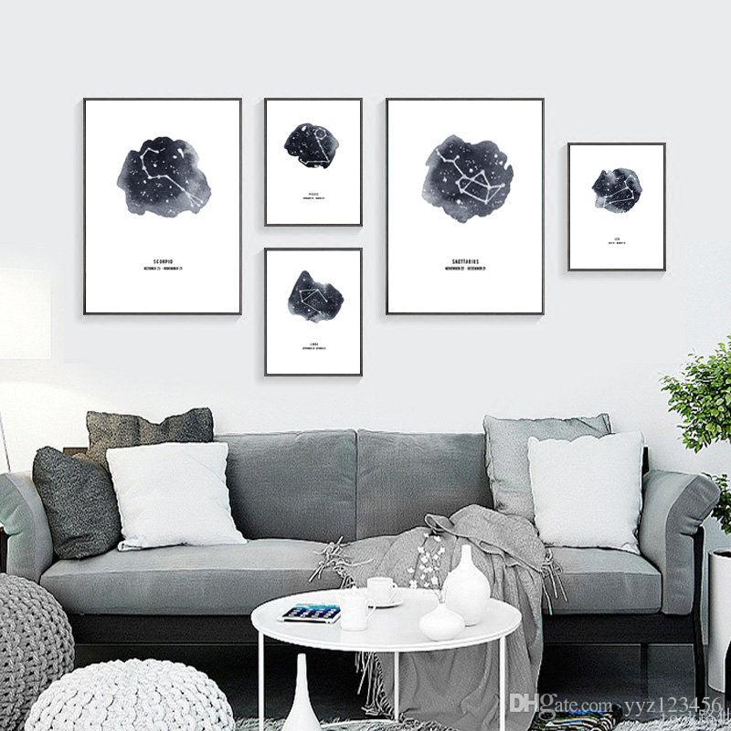2018 Nordic Wall Art Pictures For Home Decor Constellation Abstract ...