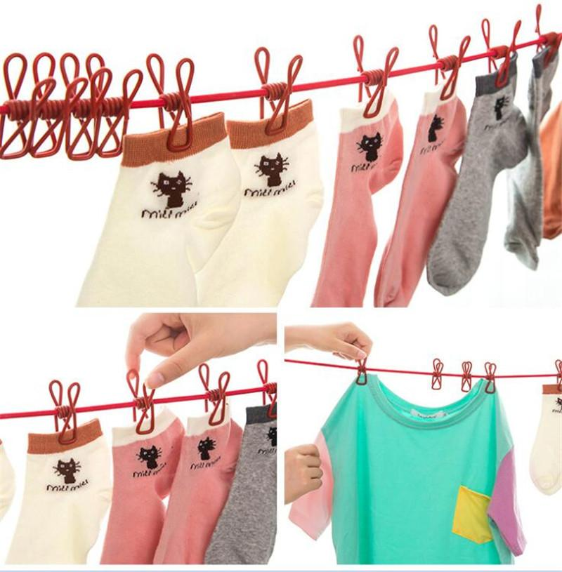 2019 18m Clothesline With Clips Hotselling Portable Multi