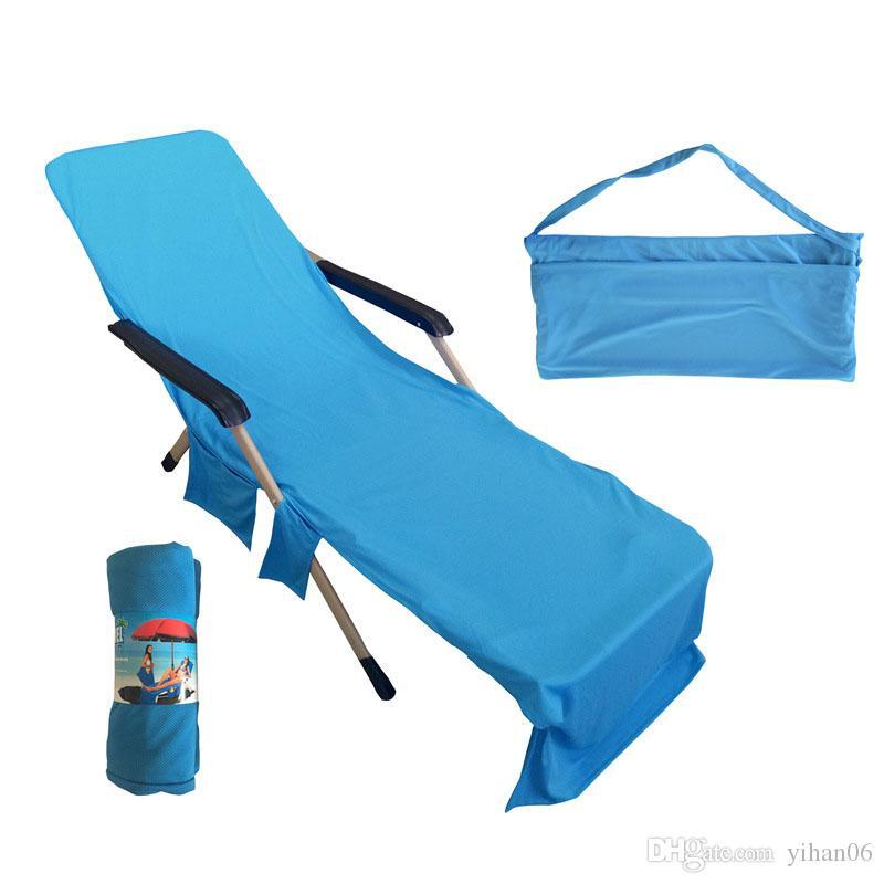 Sandalye Plaj Havlusu Güneş Şezlong Sandalye Tote Çanta Ile Büyük Cep Havuzbaşı Bahçe Eğlence Bahçe Plaj Havlusu Serviette