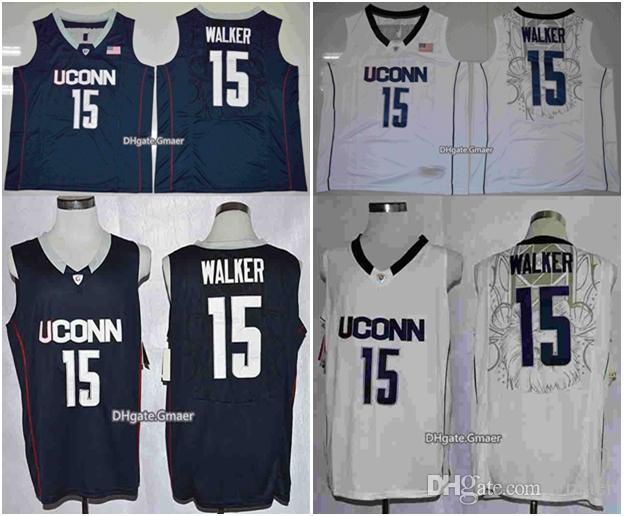 d2aefde7afa2 2019 Hot Sale  15 Kemba Walker Uconn Huskies Basketball Jerseys College  Basketball Shirts Navy White Retro Stitched S XXL From Gmaer