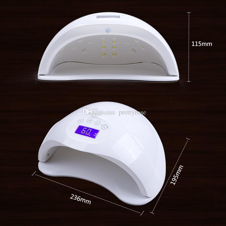 Hot SUN5 Plus LED Nail Dryer 48W Lamp For Manicure Unique Low Heat Mode Nail Gel Dryer For Nail Polish Art Tools