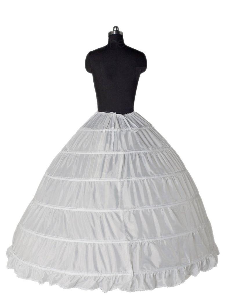 2018 Hot Sale Ball Gown 6 Hoop Petticoats Underskirt Full Crinoline For Bridal Wedding Dress Accessories