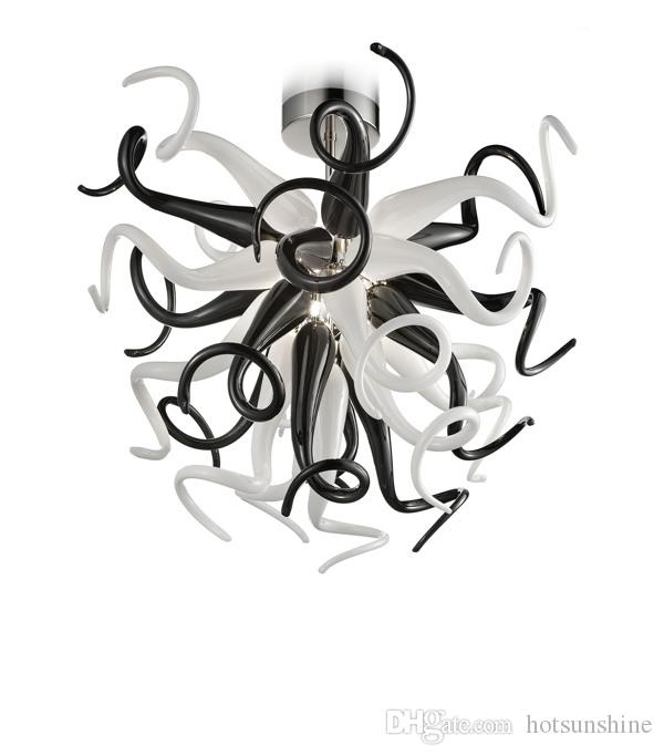 Nuevo diseño de lujo LED Light Chandelier Light Foyer Villa Decor Chain Chihuly Chandeliers LED Lámparas colgantes