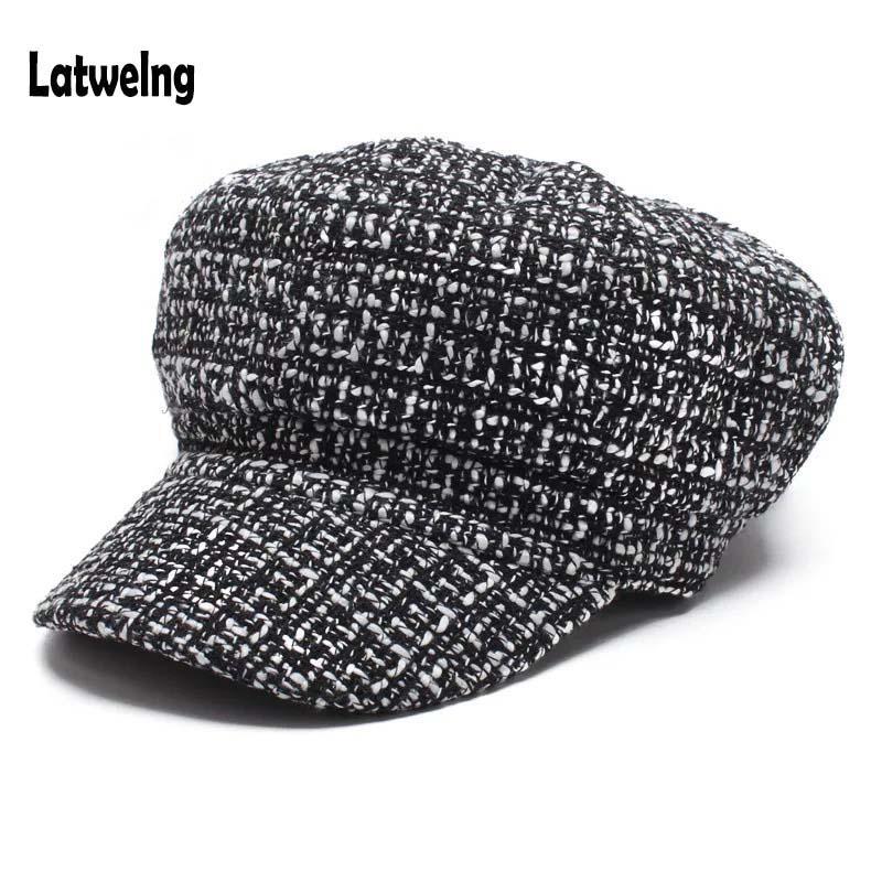New Trending Autumn Winter Newsboy Caps For Women Beret Hats Fashion  Streetwear Visor Cap Black White Designer Hat Wholesale UK 2019 From  Wutiamou 2302b0bf9