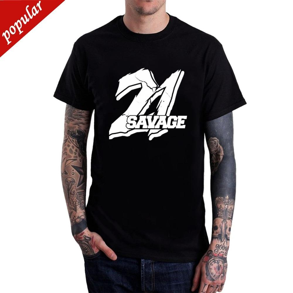 30cbf2e7f70 2018 Fashion Casual Streetwear Men S 21 Savage Hip Hop T Shirt Brand  Clothing Men T Shirts Print Tops Tee Shirt Hip Hop Funky T Shirt Design T  Shirt Every ...