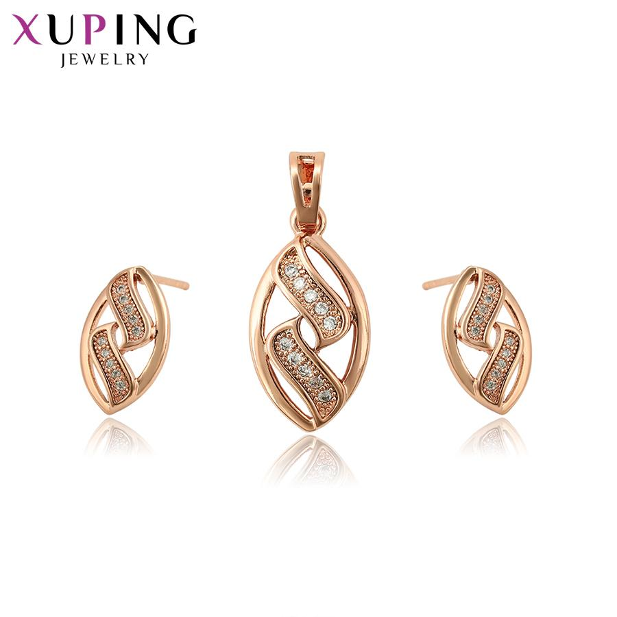 9f8ac8a7f Xuping Fashion Jewelry Sets Fantastic Charm Women Sets Rose Gold Color Plated  Wedding Gifts High Quality Design S104,1 65067 Mens Diamond Wedding Bands  ...