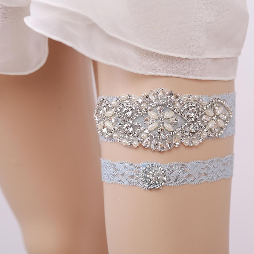 b3f693699 2019 Women Luxury Vintage Wedding Garter Rhinestone Pearl Bead Lace Flower  Sexy Garter Bride Thigh Ring Bridal Leg From Marryone