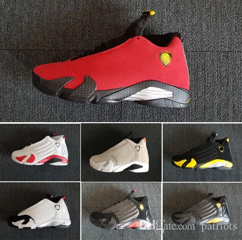 dd89b730489261 2019 2018 Newest Mens 14 XIV Oxidized Green Indiglo Black Toe Red Suede 14s  Men Basketball Shoes Sneaker Last Shot Sport Shoes 40 47 From Patriots