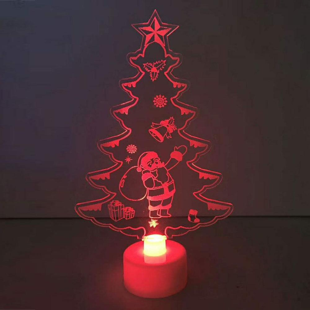 Color Changing Christmas Lights.White 15 8 8 3cm Color Changing Xmas Tree Led Christmas Tree Night Light Lamp New Year Festival Party Supplies Ornaments