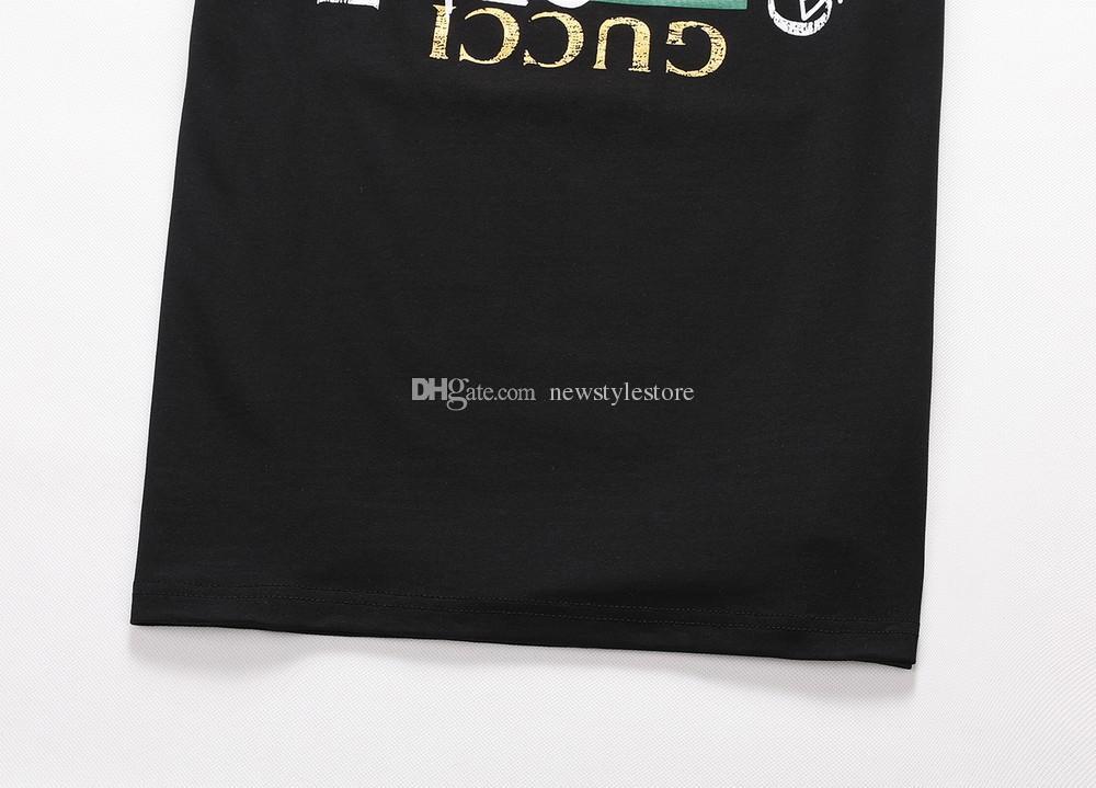 Nuovi t-shirt uomo in cotone marca tedesca cristalli arricchiti t-shirt colletto a costine europeo Alec Monopoly manica corta ROUND NECK SS NEW SOUP Tee
