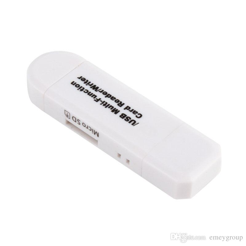 3 in 1 USB OTG Card Reader Flash Drive USB2.0 ad alta velocità universale OTG TF / SD Card Android Phone Intestazioni di computer Extension