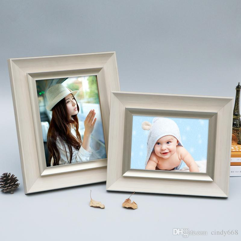 2018 New Environmental Resin Photo Frames For Baby Kids Simple Table