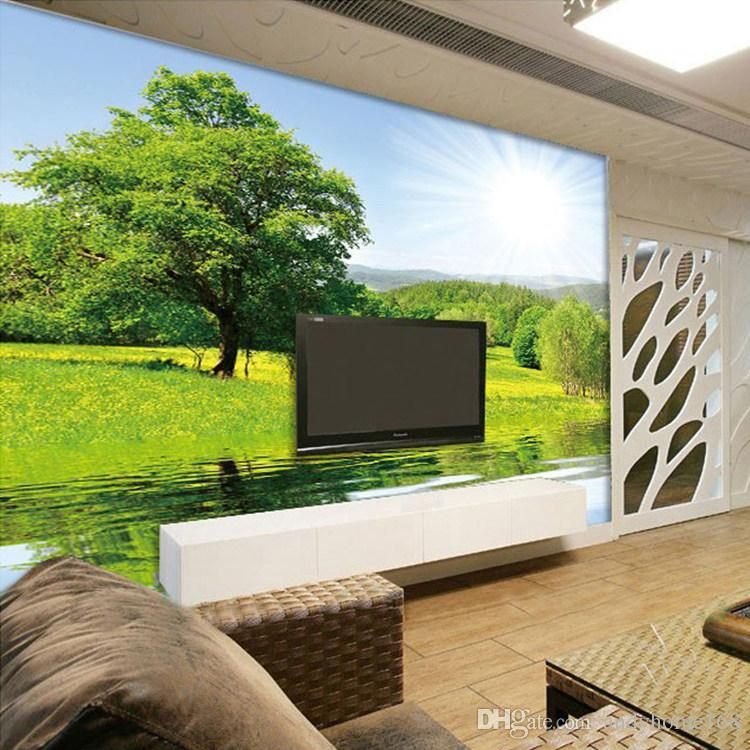 . Custom 3D Mural Wallpaper Simple Modern Nature Landscape Large Mural Living  Room Bedroom Wall Painting Photo Wallpaper Decor Art Girls Wallpapers Good