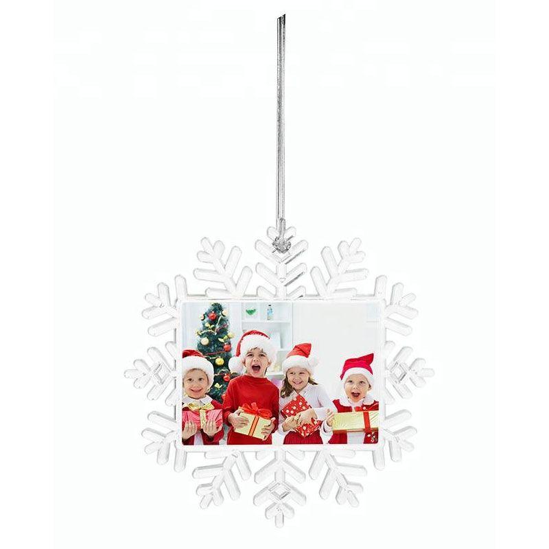 sublimation christmas ornaments snowflake personalized custom