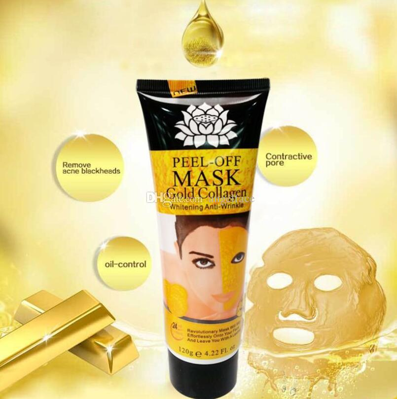 24K Golden Peel Off Mask Face Care Whitening Face Masks Anti Aging Anti Wrinkle Facial Mask Skin Care Face Lifting Firming Mask DHL