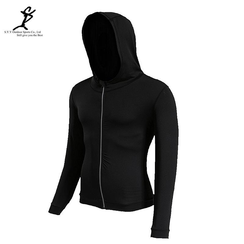 386e3450b 2019 Outdoor Spring Sport Jacket Men Reflective Zipper Running Hoodie Black Gym  Sweatshirt Fitness Sportswear Crossfit Hooded Jacket From Stem, ...