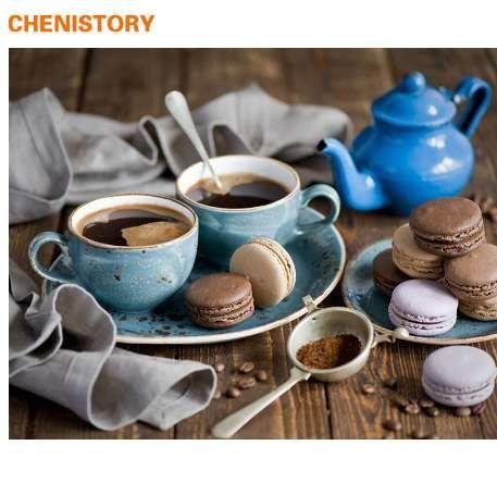 Großhandel Geschenk Kaffee Kuchen Diy Malen Nach Zahlen Moderne Home