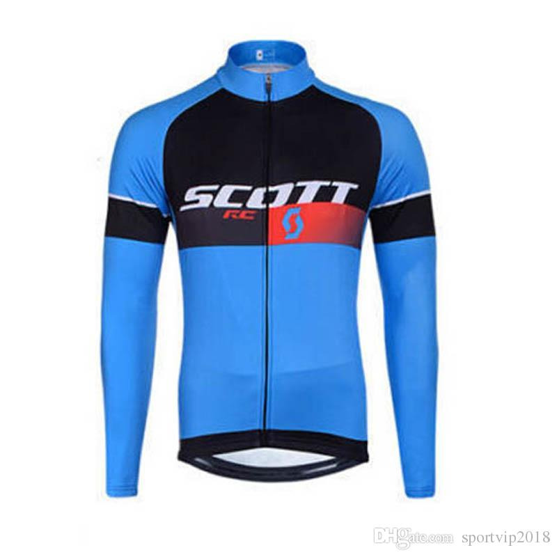 47d4d60ab 2018 Pro Team Scott Cycling Jersey Long Sleeve Mtb Bicycle Tops ...