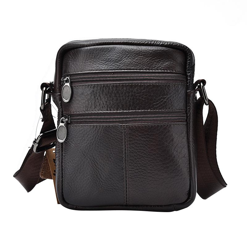 Top Quality Cow Leather Mens Business Messenger Bags Zipper Design Solid  Crossbody Bag Large Capacity Black Shoulder Bag For Man Wholesale Purses  Designer ... 9f78005facfe4