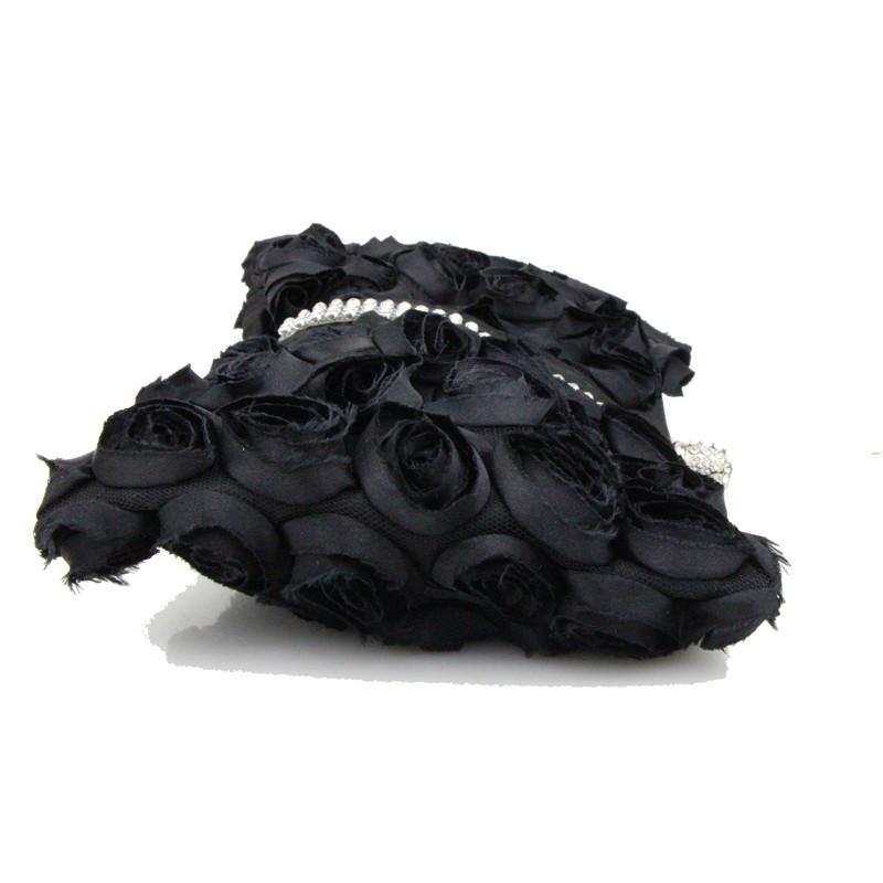 CAIYUE Evening Bags Clutch Black Rose Floral Embossed Handbag Lady Floral Shoulder Female Bolsas Luxury Designer Women Bags