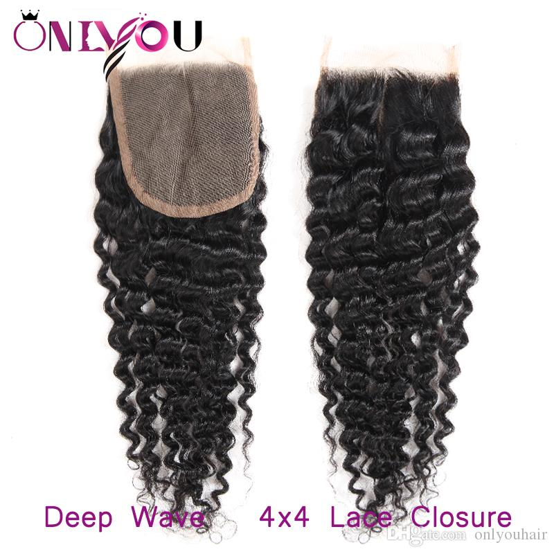 New Arrival Malaysian Virgin Remy Hair Weave 4 Deep Curly Bundles with Closure Malaysian Deep Wave Silk Base Closure Curl Hair Extensions