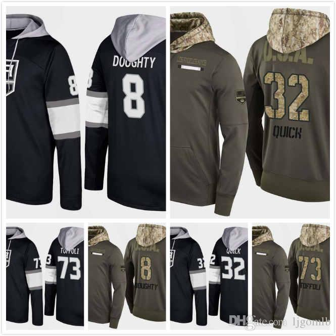 cheap for discount ab9d3 acad5 Mens Los Angeles Kings Hoodie 2018 Tyler Toffoli 73 Drew Doughty 8 Jonathan  Quick 32 Marian Gaborik 12 Andrew Crescenzi 47 Stitched S-3XL