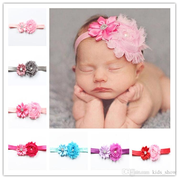 36607a8fe1d Baby Flower Head Bands Newborn Crystal Tiara Hairband Baby Photography  Props Headwear Adjustable Lovely Hair Accessories Hair Accessories Headbands  Hair ...