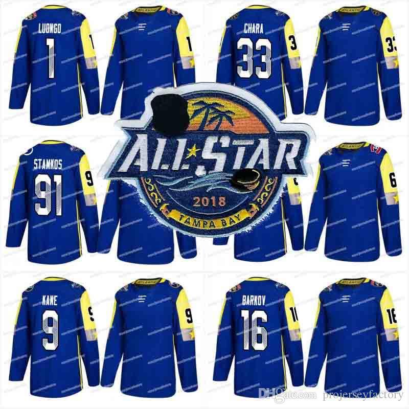 5eb179d66b2 ... 2018 hockey all star game jerseys 91 steven stamkos tampa bay lightning  nikita kucherov carey price