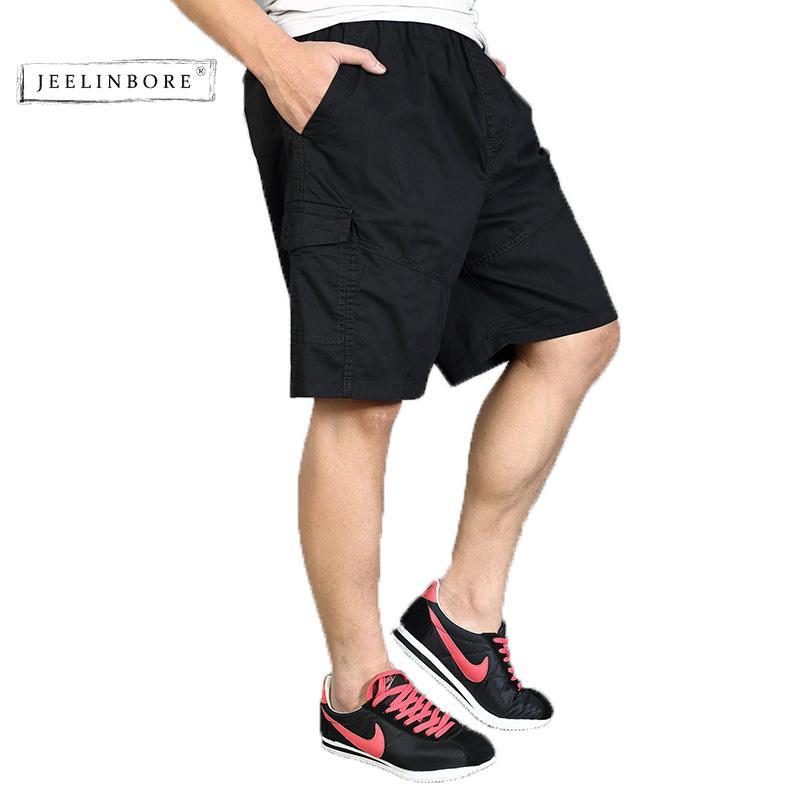c01c13fec9325 Compre Jeelinbore Verano Nuevo Hombre Pantalones Cortos Casual Hombres De  Algodón A Cuadros Hasta La Rodilla Pantalón Slim Fit Marca Ropa Más Tamaño  6xl Hip ...